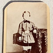 Victorian Antique Cabinet Photo Child