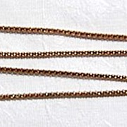"Vintage Italian Vermeil 18"" Chain"