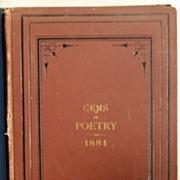 1884 Twelve Month Gems Of Poetry