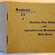 SALE Vintage Soubenir Booklet Louisiana State University & Agricultural & Mechanical College B