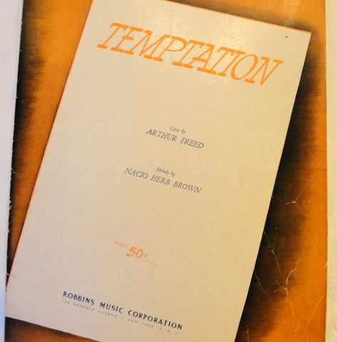 """1933 Vintage Sheet  Music """"Temptation"""" From """"Going Hollywood"""""""