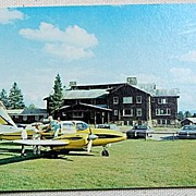 Vintage Postcard Sky Lodge & Motel Moose River Maine
