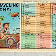 Vintage I'M Traveling Some Post Card