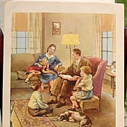 SALE Dorothy Handsaker Lithograph Nursery Class Picture #9 Southern Baptist Convention