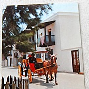 Vintage Post Card San Agustin Antiguo St. Augustine Florida