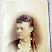 Victorian  Cabinet Card Young Lady Peru Indiana