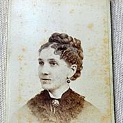 Victorian Cabinet Card Lady Hartford Conn.