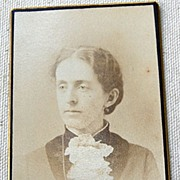 Victorian Cabinet Card Young Lady Amesbury Mass