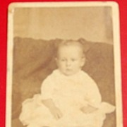 Antique Cabinet Photo Baby Boy