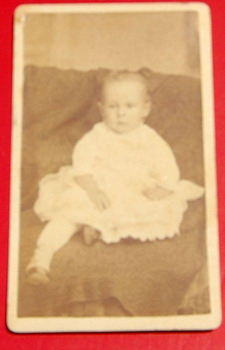 Antique Cabinet Photo Baby Boy
