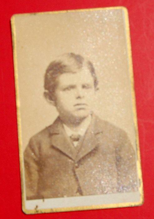 Antiuqe Victorian Cabinet Card Boy