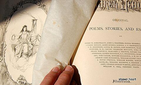 1876 Laurel Leaves: Original Poems, Stories & Essays By William F. Gill