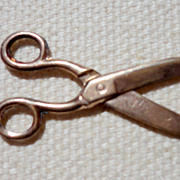 SALE Victorian Gold Filled Scissors Charm Fob