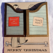 Vintage Merry Christmas Card