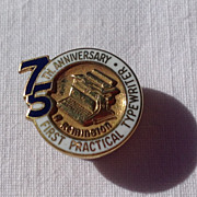 REDUCED Vintage 75th Anniversary Remington Typewriter 10K Gold Filled Lapel Pin