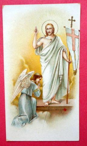 Vintage Prayer Card The Risen Christ