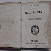 1826 Work Of Jean Racine Volume 4
