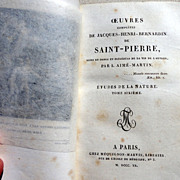 1820 Complete Works Of Jacques Henri Bernardin de Saint - Pierre