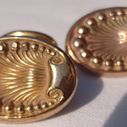 Vintage Art Deco Gold Filled Cuff Links