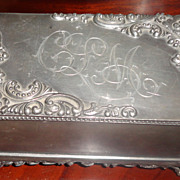 Victorian Silver Plate Jewelry Casket Jewelry Box