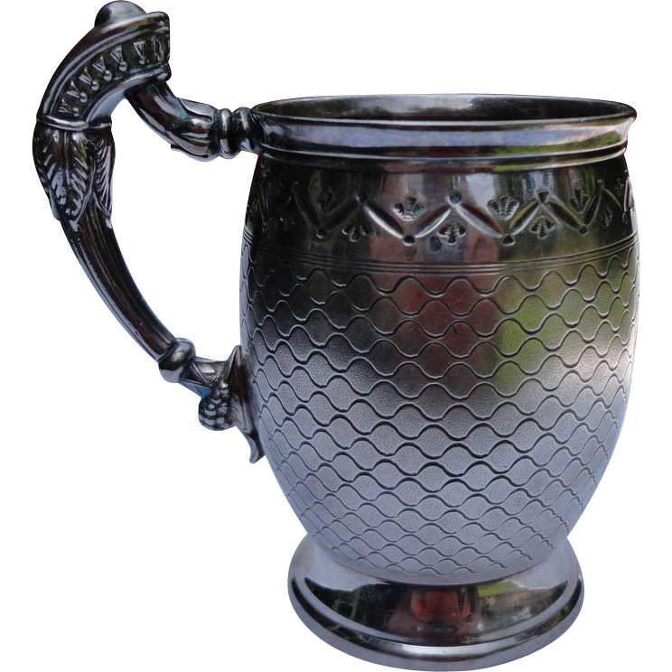 Victorian Meriden Silver Plate Baby Mug