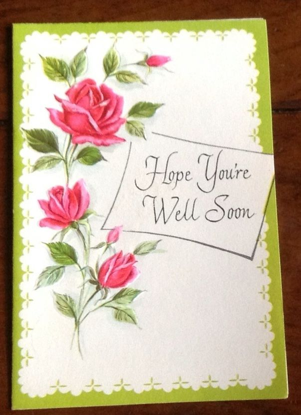 Vintage Religious Get Well Card