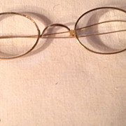 SALE Vintage Gold Filled Rimmed Wire Eye Glasses