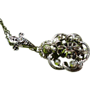 REDUCED Georgian Sterling Silver Rose Cut Diamond Pendant