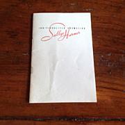 1940's Sallye Harmer Individualized Cosmetics Booklet