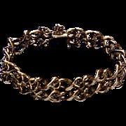 Vintage 12K Gold Filled Charm Bracelet