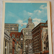 Vintage The Wall Street Of New Orleans Post Card