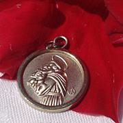 Vintage Silver Tone Saint Joseph Medal