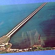 Vintage Lake Ponchartrain Causeway New Orleans Louisiana Post Card