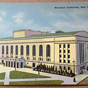 Vintage Municipal Auditorium New Orleans Louisiana Post Card