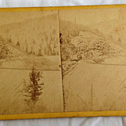 SALE 1871 Stereo Photography Stereo View Card Pennsylvania Central Railroad