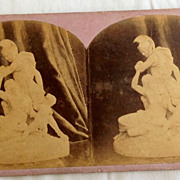 SALE 1866 Lobe Restraining Wrath Stereo-Photography Stereo View Card