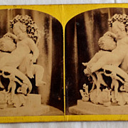 SALE 1867 Stereo-Photography Stereo View Card Puck #70 Exhibition 1851