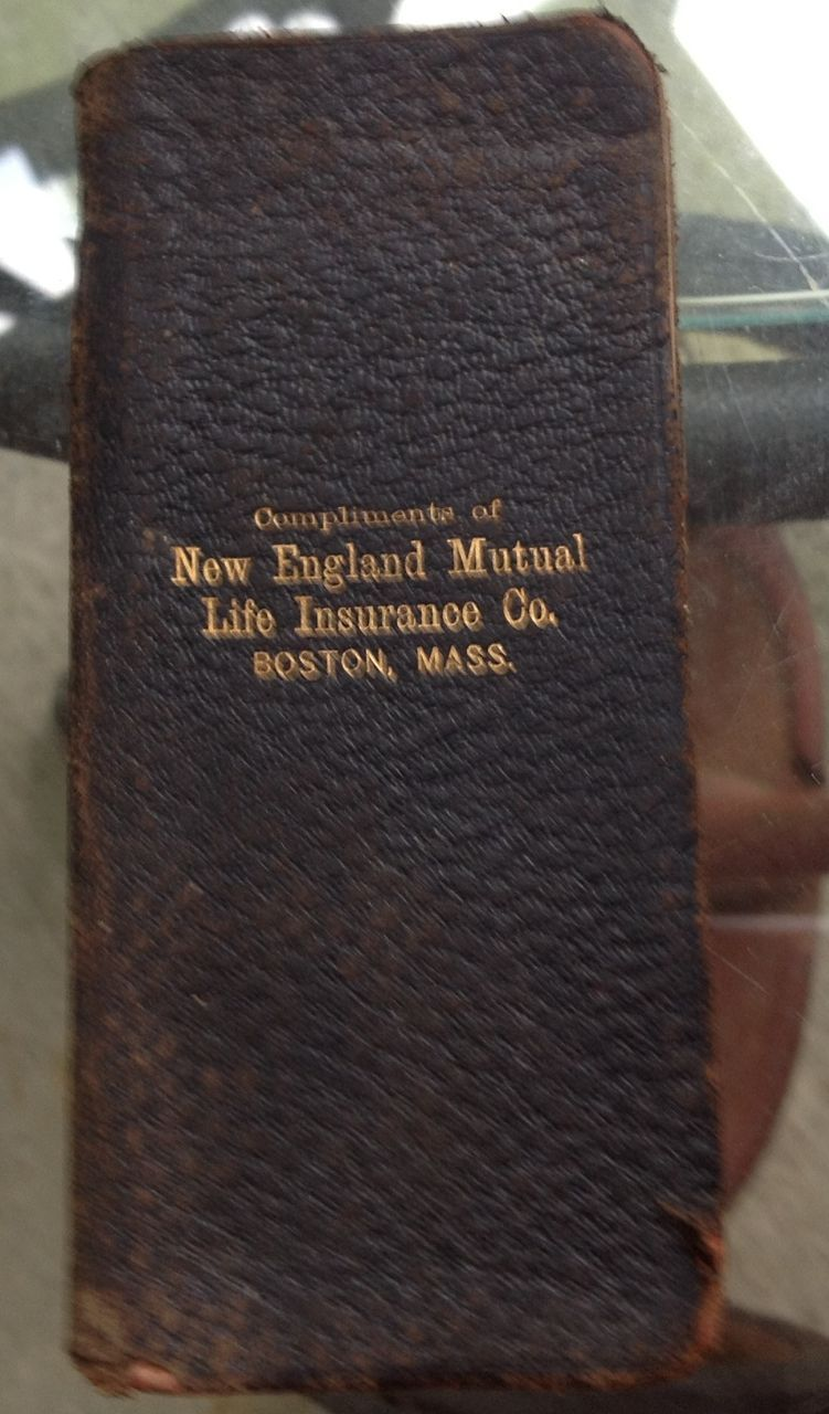 1901 New England Mutual Life Insurance Co. Leather Book