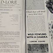 SALE November - December 1938 Bird Lore