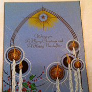 Art Deco A Merry Christmas & A Happy New Year Card