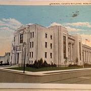 1935 Criminal Court's Building New Orleans La. Post Card