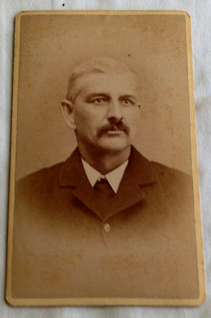 Vintage Cabinet Card Gentleman With Mustache