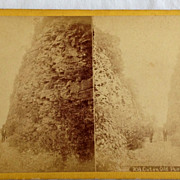 SALE 1871 Stereo Photography Stereo View Card