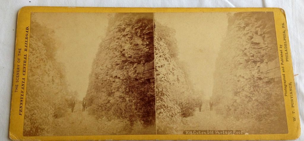 1871 Stereo Photography Stereo View Card