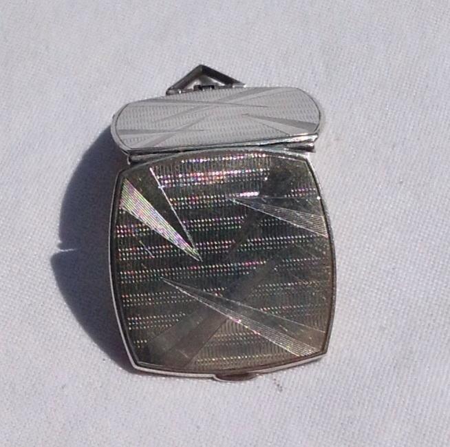 Art Deco Sterling Silver Double Photo Locket