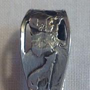 REDUCED Vintage Sterling Silver Nursery Rhyme Carved Handle Baby Spoon