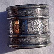REDUCED Victorian Silver Plate Napkin Ring
