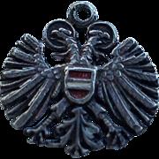 Vintage Silver Tone Medal Charm