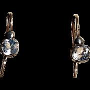 Vintage  Gold Filled  Paste Earrings