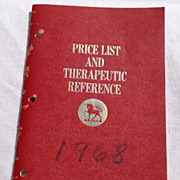 SALE 1968 Burroughs Wellcome & Co. Price List & Therapeutic Reference